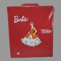 Vintage 1960's Barbie/Midge Vinyl Carrying Case, Made in France, Rare!
