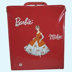 Vintage 1960's Barbie/Midge Vinyl Carrying Case, Made in France, Rare!