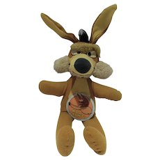 "Wile E. Coyote 16"" Plush Figure, 1971, W/Tag"