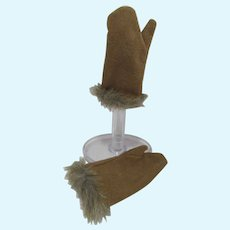 Suede&Faux Fur Gloves for American Girl Kaya Doll