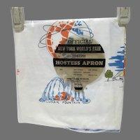 1964-65 New York World's Fair Hostess Apron, Still Sealed in Package!