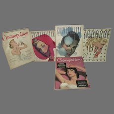 VIntage Lot of Cosmopolitan Magazines, 1948-49