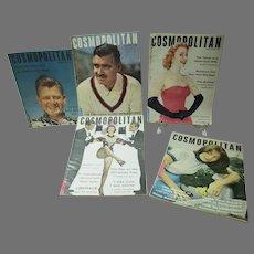 Lot of Vintage Cosmopolitan Magazines, 1952&54