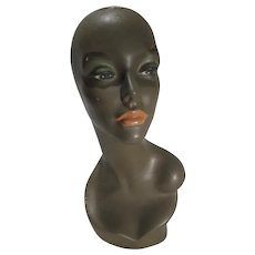 Vintage 1960's Ladies Mannequin Head for Hats & Jewelry