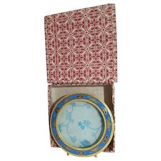 Charming Oval Enamel Small Picture Frame Butterfly's MIB