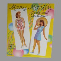 Mint Un-Cut Mary Martin Paper Dolls, 1942 Saalfield Pub.