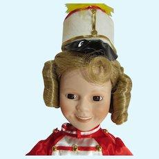 "Shirley Temple Porcelain Doll, Danbury Mint, ""Poo Little Rich Girl"", 1994"