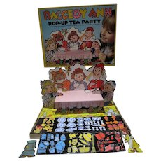 Raggedy Ann Pop-Up Tea Party Colorform Set, 1974