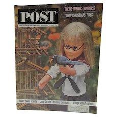 Saturday Evening Post Magazine, 12/63 Charmin'Chatty Cover, Garland Comeback Story