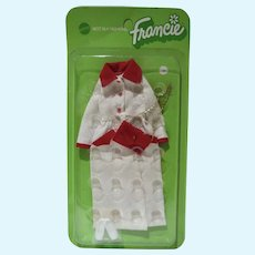 NRFP Mattel Francie Outfit, Red, White & Bright, 1972