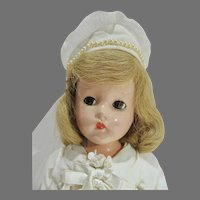 Vintage Effanbee Composition Suzanne Bride Doll, 1940, Lovely