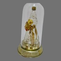 VIntage Yesteryear Figural Perfume Bottle in Glass Dome, 1940's