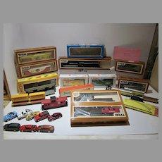 Collection of Tyco,Lionel,Cox ,Burlington,Miaisto Trains and Transformer