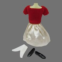 VIntage Mattel Skipper Outfit, Silk 'n Fancy, 1964