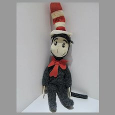VIntage 1970's  Dr. Seuss Cat in the Hat Plush Doll