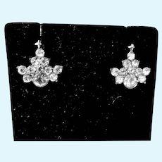 Original Madame Alexander Cissy Rhinestone Drop Earrings, 1950's
