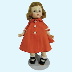 Madame Alexander Wendy in Mandarin Orange Coat, 1956