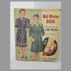 Vintage 1940's Lane Bryant Mail Order Fashion Catalog