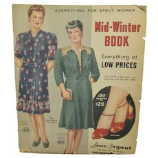 Vintage 1940's Lane Bryant Mail Order Fashion Catalog