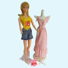 Vintage Mattel Sweet 16 Barbie w/ Promotional Extra Outfit, 1974