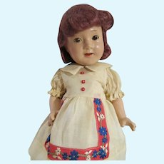 Vintage Madame Alexander Jane Withers Composition Doll, 1937