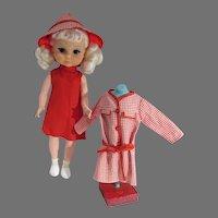 Charming Big Eye Doll, 1960's Hong Kong, All Original