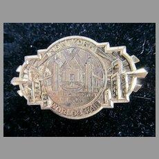 Rare 1939 New York World's Fair Railroad Exhibit Pin