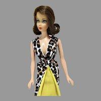 1969 Mattel Brownette Flip TNT Barbie Doll in Leisure Leopard