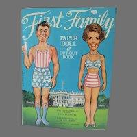 Un-Cut First Family Paper Dolls, 1981. Al Kilgore Illustrations