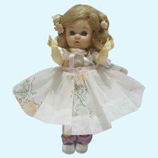 Vintage 1950's Virga 8 Inch Walker Doll