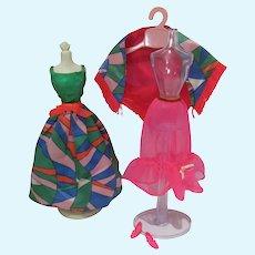 Vintage Mattel Barbie Outfit, Rainbow Wraps, 1970, Complete