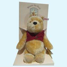 Steiff Classic Pooh, 9 Inch Winnie The Pooh, 75th Anniversary w/Labels
