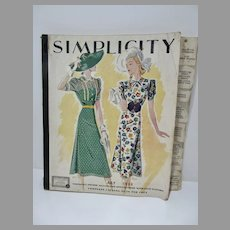 Rare Simplicty Complete Catalog Pattern Book, July 1938, Terrific Illustrations!