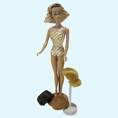 Mattel Vintage Fashion Queen Barbie w/Outfit & Wigs, 1963