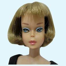 Vintage Mattel Long Hair American Girl Barbie w/Pink Lips, 1966