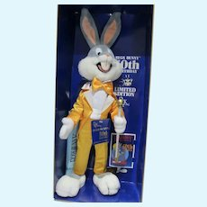 NRFB Bugs Bunny 50th Birthday Ltd Ed. Plush Doll, 1990