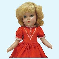 """Arranbee 14"""" Nanette Doll, 1950's"""