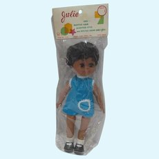 1960's African American Big Eyed Doll, Julie, MIB, Hong Kong