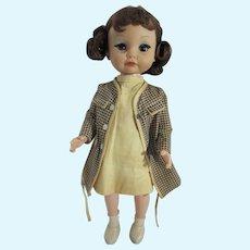 Charming Vinyl 15 Inch 1960's Girl Doll, All Original