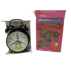 Rare MIB 1978 Garfield Wind Up Alarm Clock, Sunbeam, Works