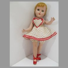 Vintage Early 1950's 14 Inch Hard Plastic Doll