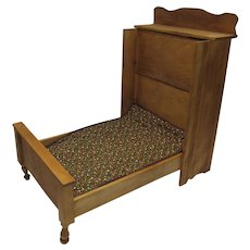 Vintage 1980's Reproduction Wooden Combination Wardrobe/Folding Doll Bed, 1895