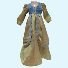 Vintage 1960's Taffeta and Lace Doll Gown