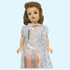 """Vintage Ideal 20"""" Miss Revlon Doll is Teddy & Floral Robe, 1950's"""