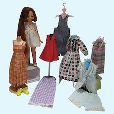 Vintage Ideal Beautiful Crissy Doll w/Wardrobe, 1983
