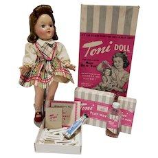 Vintage 1949 Ideal Toni Doll Near Mint In Box