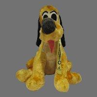 Vintage Plush Pluto Dog, Disneyland, 1960's