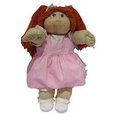 Cute Vintage Cabbage Patch Kids Girl Doll with Red Hair & Blue Eyes, 1978-1982