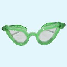 VIntage Vogue Green Ginny Eye Glasses, 1950's