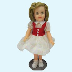 """Ideal 15"""" Shirley Temple Doll, 1957, Original Outfit"""